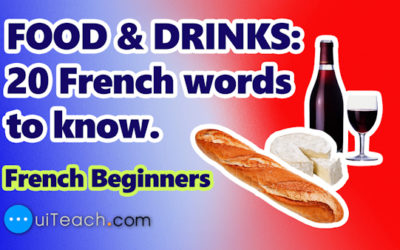FOOD & DRINKS | 20 French words to know